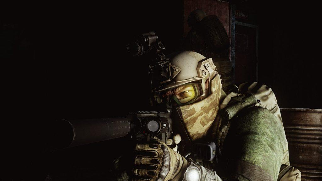 Soldier Aiming Gun - EFT Wallpaper