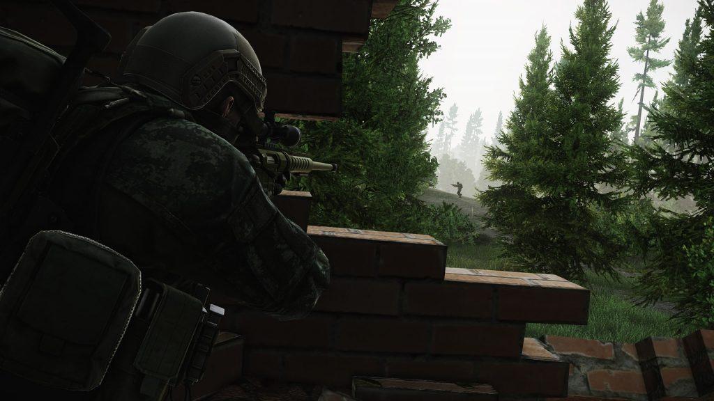 Sniper aiming at enemy - EFT Wallpaper