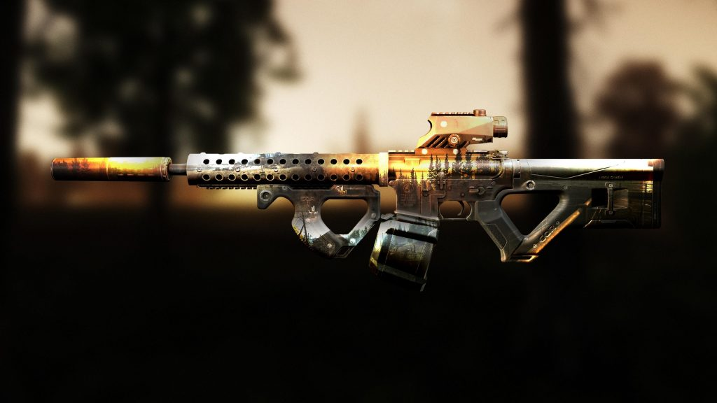 Weapon on sunset background - EFT wallpaper