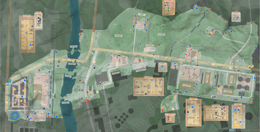 Map of Customs Extractions and Spawns